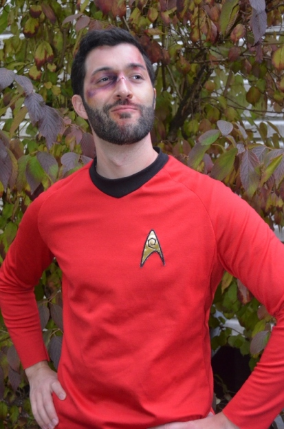 Stefan as a Red Shirt (Start Trek) Survivor.