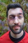 Stefan as a Red Shirt makeup closeup