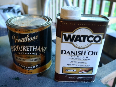 Watco Danish Oil with Varathane Polyurethane