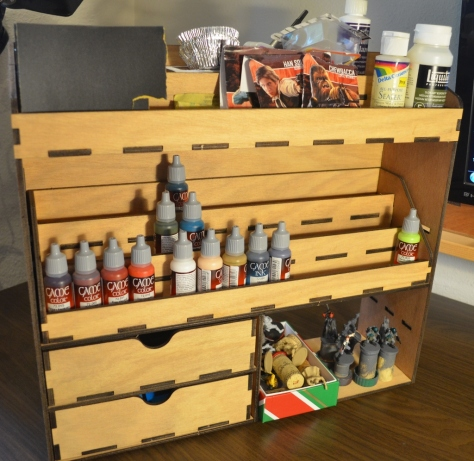 Miniatures Paint Storage Rack populated