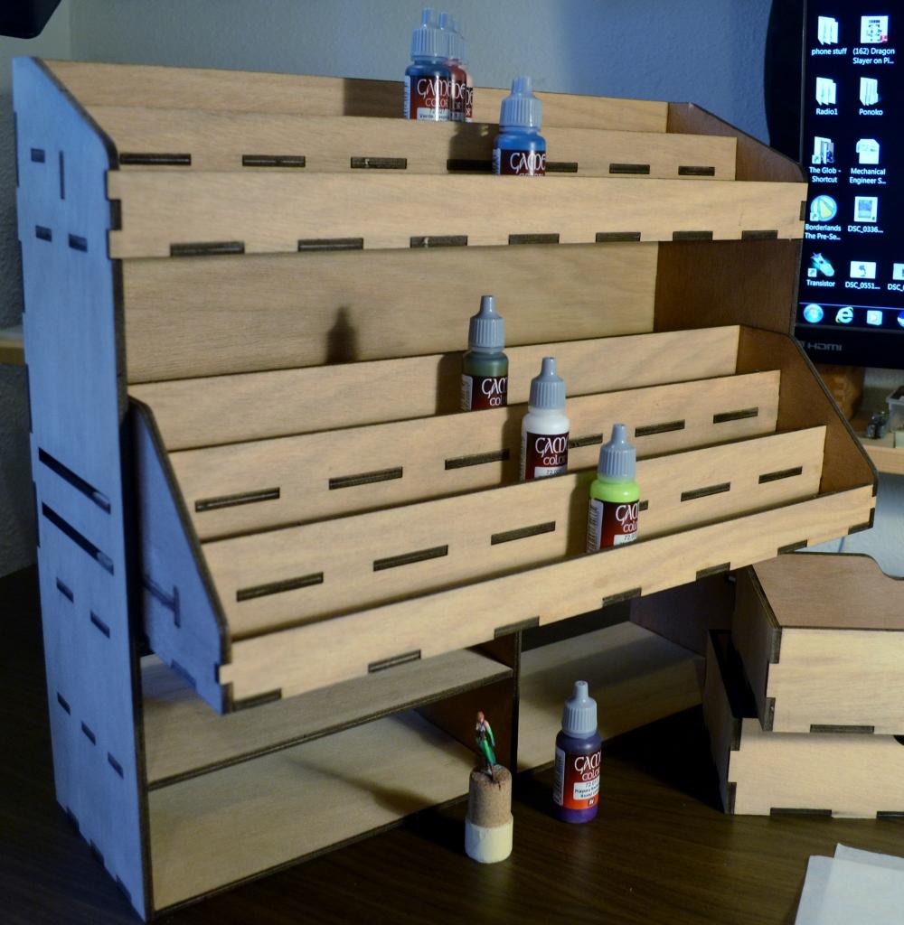 Laser Cut A Miniatures Paint Storage Solution Thinker