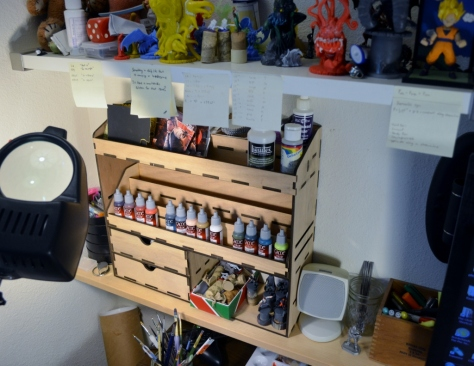 Paint Rack in use