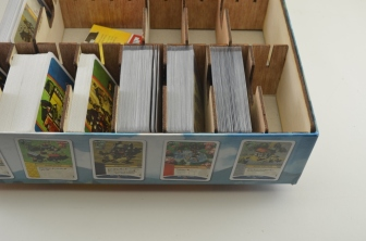 Imperial Settlers: 30 sleeved cards easily fit into sections with room for more